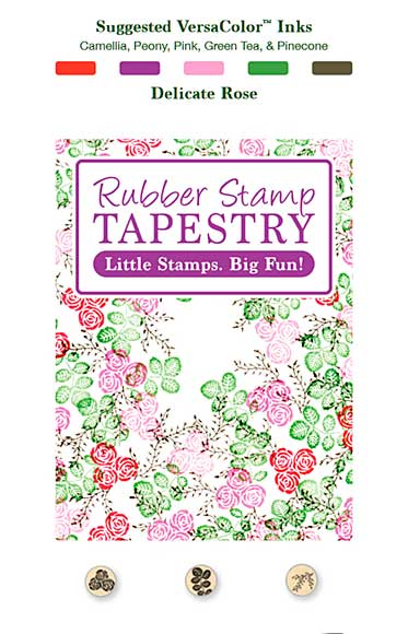 SO: Rubber Stamp Tapestry - Delicate Rose