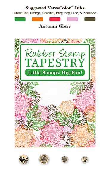 SO: Rubber Stamp Tapestry - Autumn Glory Chrysanthemums