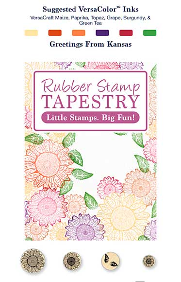 SO: Rubber Stamp Tapestry - Greetings From Kansas
