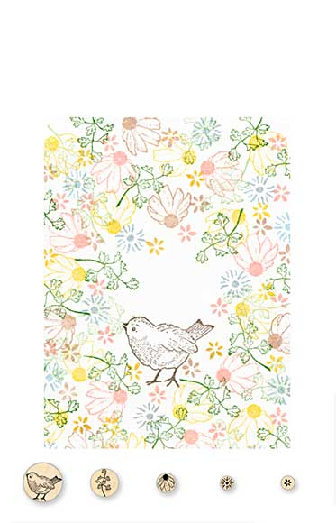 SO: Rubber Stamp Tapestry - Sweet Song of Spring