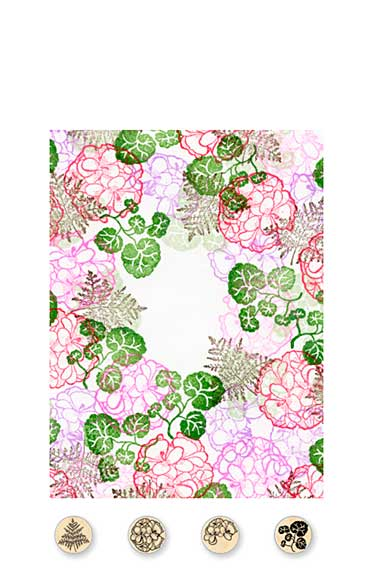 SO: Rubber Stamp Tapestry - Red Geranium