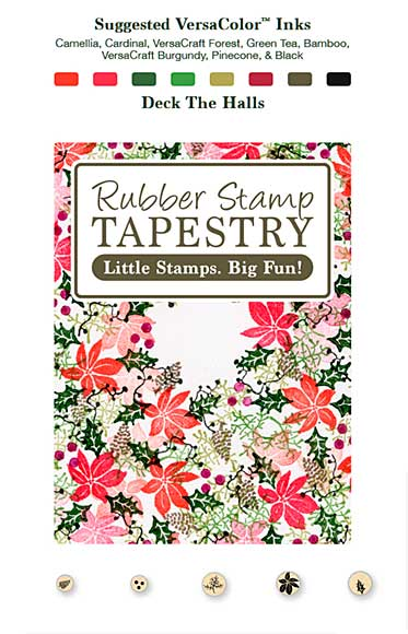 SO: Rubber Stamp Tapestry - Deck The Halls