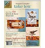 Stampers Sampler - Take Ten Autumn 08 (Cards in under 10 mins)