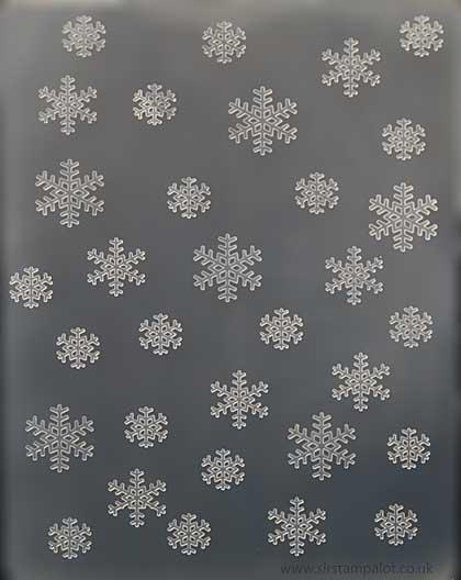 SO: BigShot Embossing Folder - Snowflakes Background (Cuttlebug)