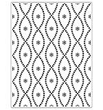 SO: Crafts Too Embossing Folder - Seamless Circle 14.6 x 19 cm