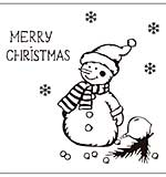 Crafts Too Embossing Folder - Snowman 15 x 15 cm