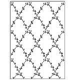 SO: Crafts Too A4 Embossing Folder - Flower Lattice