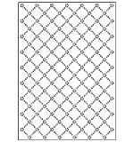 SO: Crafts Too A4 Embossing Folder - Daisy Lattice