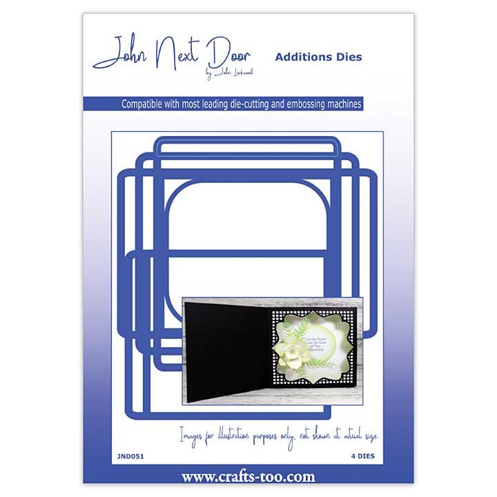 John Next Door Card Die Collection - Square Scene Box (4pcs)