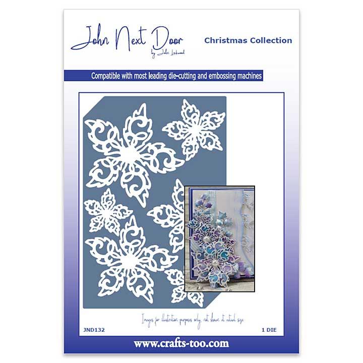 John Next Door Christmas Dies - Swirl Poinsettia
