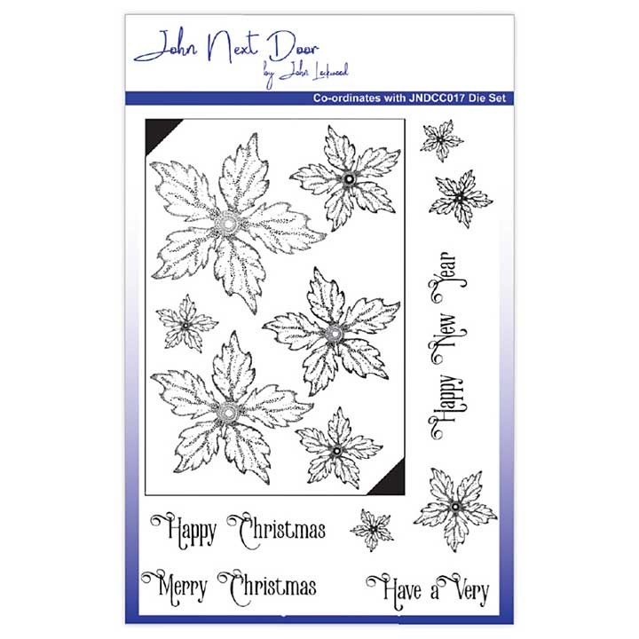 John Next Door Clear Stamp Set - Poinsettia