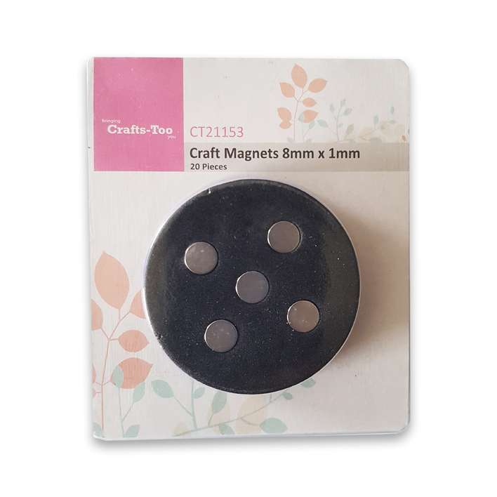 Crafts Too - Craft Magnets 8mm x 1mm (20pcs)