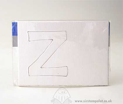 Bazzill Basics - Really BIG Chipboard Letters - Z