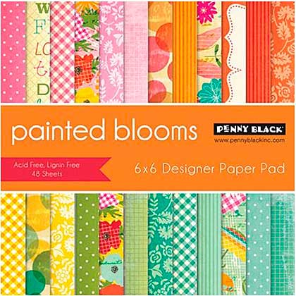 Penny Black Paper Pad 6x6 48pk - Painted Blooms