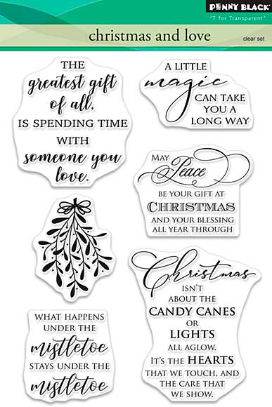 Penny Black Clear Stamps - Christmas and Love