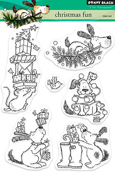 SO: Penny Black Clear Stamps - Christmas Fun