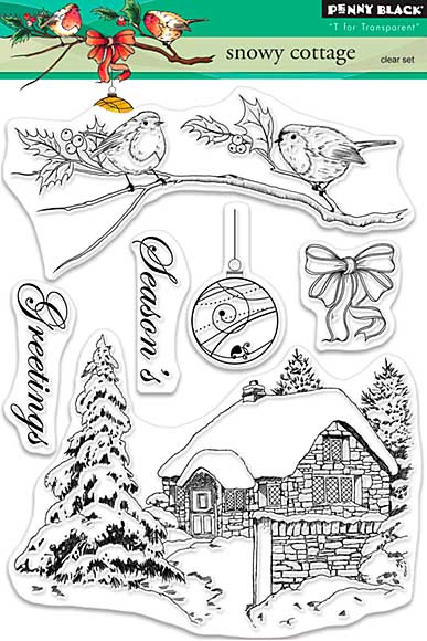 SO: Penny Black Clear Stamps - Snowy Cottage
