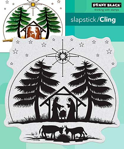 SO: Penny Black Cling Stamps - Nativity