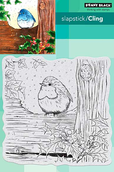 SO: Penny Black Cling Stamps - Robins Christmas