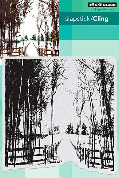 SO: Penny Black Cling Stamps - Snow Trails