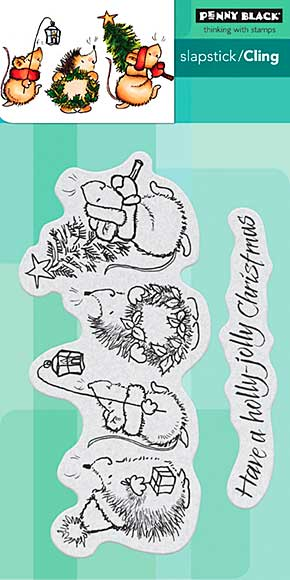 SO: Penny Black Cling Stamps - Holly Jolly Critters