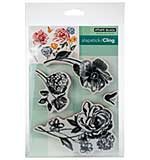 Penny Black Cling Stamps - Flower Pageant