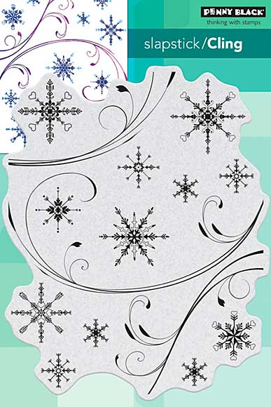 SO: Penny Black Cling Stamps - Snowflake Medley
