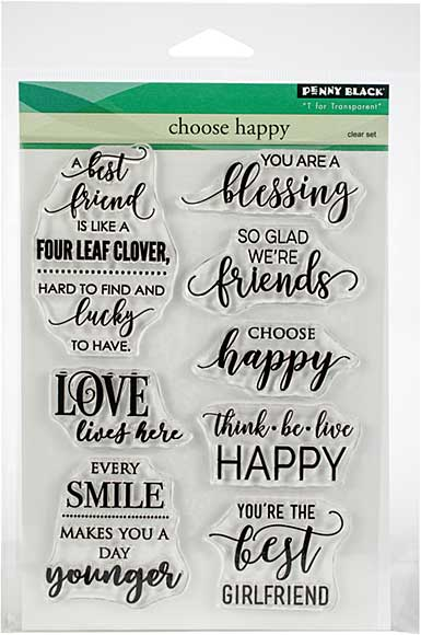 Penny Black Clear Stamps - Choose Happy