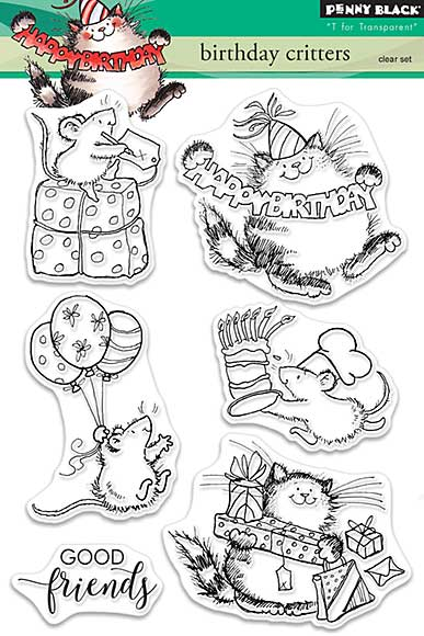SO: Penny Black Clear Stamps - Birthday Critters