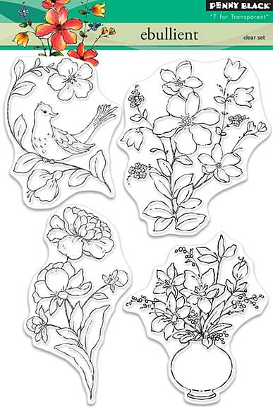 SO: Penny Black Clear Stamps - Ebullient