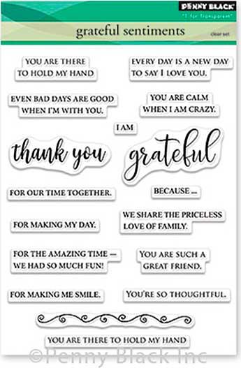 Penny Black Clear Stamps - Grateful Sentiments