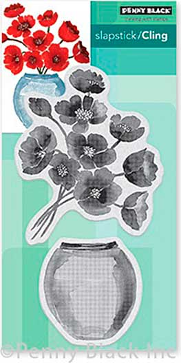 SO: Penny Black Cling Stamps - Painter\'s Vase