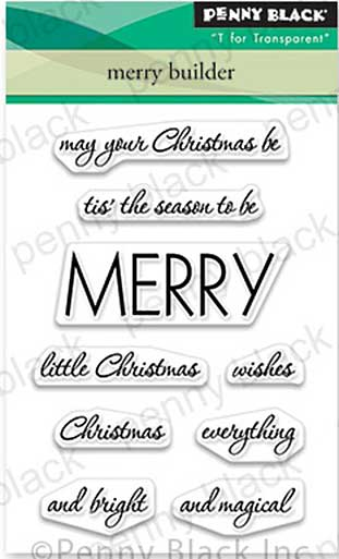 Penny Black Clear Stamps - Merry Builder