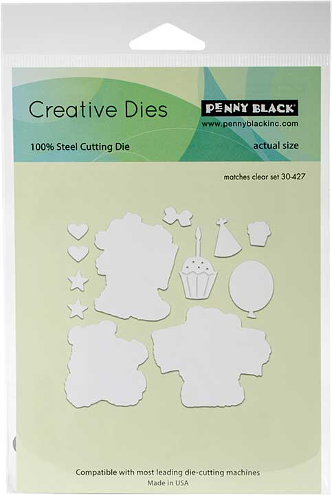 Penny Black Creative Dies - Party Bears