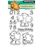 SO: Penny Black Clear Stamps - Birthday Bears Mini