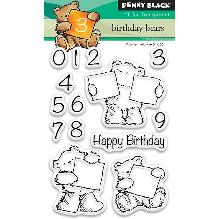 Penny Black Clear Stamps - Birthday Bears Mini