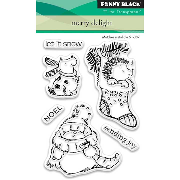 SO: Penny Black Clear Stamps - Merry Delight Mini