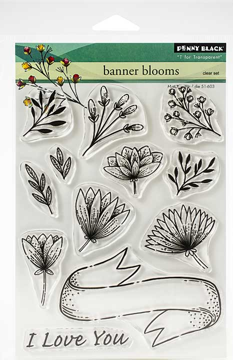 Penny Black Clear Stamps - Banner Blooms