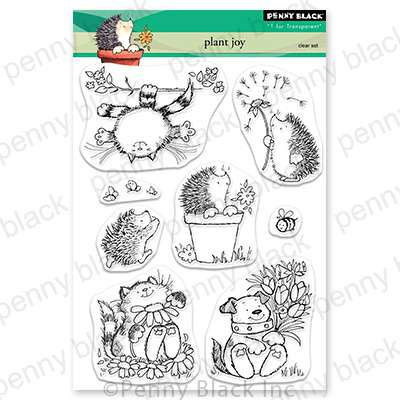 Penny Black Clear Stamps - Plant Joy