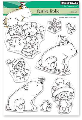 Penny Black Clear Stamps - Festive Frolic