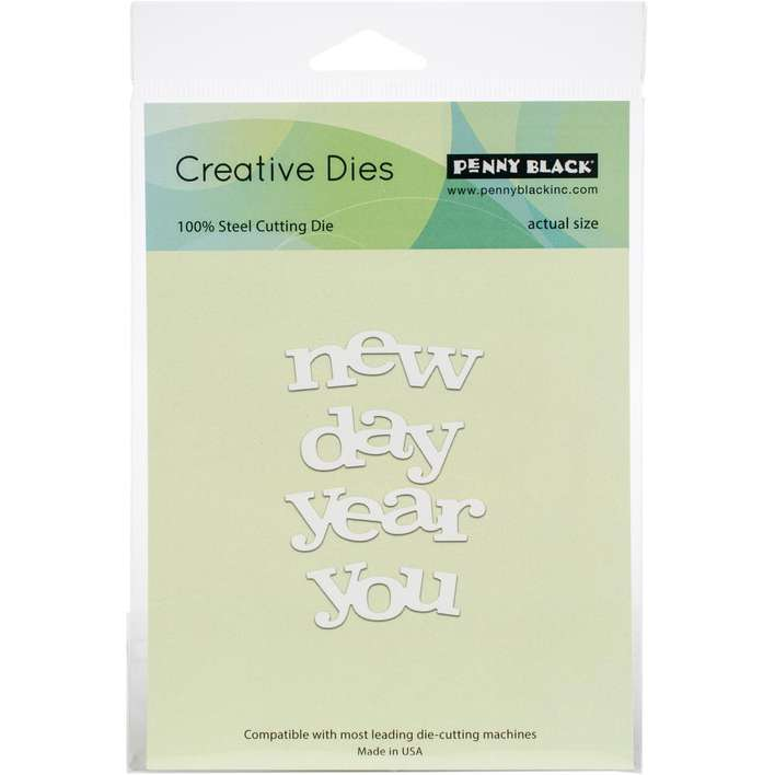 Penny Black Creative Dies - New Day New You