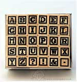 SO: Hampton Art Mini Wood Peg Rubber Stamps - Alphabet Set #1034
