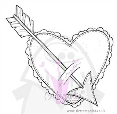 Magnolia EZ Mount - Heart with Arrow