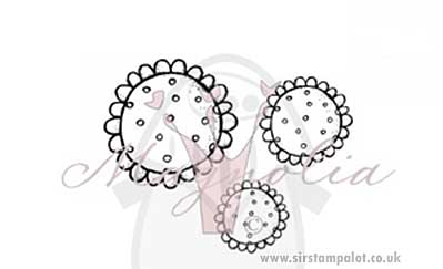 Magnolia EZ Mount - Shabby Chic Flowers - Dotted