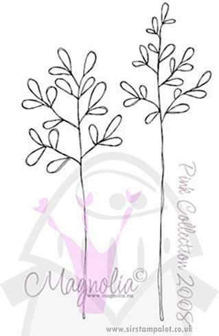 Magnolia EZ Mount - Pink Straws