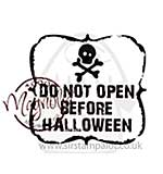 Magnolia EZ-Mount - Do Not Open Before Halloween (text)