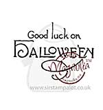 Magnolia EZ-Mount - Good luck on Halloween (text)