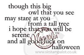 Magnolia EZ-Mount - Thought this Big Owl (text)