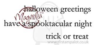 Magnolia EZ-Mount - Spooky Halloween Greetings Kit (text)