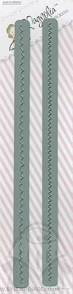 Magnolia DooHickeys - Mini Zig Zag Scalloped Lace (2 Dies)